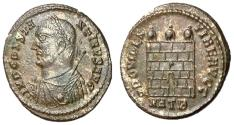 Ancient Coins - Constantine I, 307 - 337 AD, Follis of Heraclea, Campgate