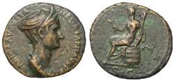 Ancient Coins - Sabina, 128 - 134 AD, Dupondius or As, Ceres