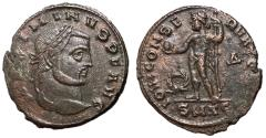 Ancient Coins - Maximinus II, 309 - 313 AD, Follis of Thessalonica, Jupiter