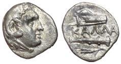 Ancient Coins - Moesia, Kallatis, 3rd - 2nd Century BC, Silver Hemidrachm, Rare