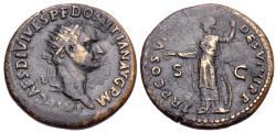 Ancient Coins - Domitian, 81 - 96 AD, Dupondius with Minerva