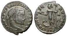 Ancient Coins - Constantine I, 307 - 337 AD, Follis of Siscia with Jupiter, Rare