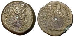 Ancient Coins - Ptolemaic Kings of Egypt, Ptolemy VI & VIII, 170 - 163 BC, AE Diobol, Choice EF