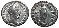 Ancient Coins - Marcus Aurelius, 161 - 180 AD, Silver Denarius, Marcus Sacrificing