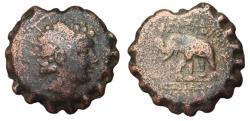 Ancient Coins - Seleukid Kingdom, Antiochos VI, 144 - 142 BC, AE23