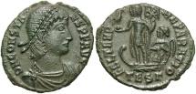 Constans, 348 - 351 AD, AE19, Thessalonika