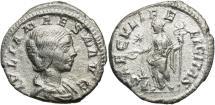 Ancient Coins - Julia Maesa, Issue by Elagabalus, 220 - 222 AD, Silver Denarius, Felicitas