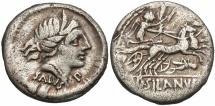 Ancient Coins - D Silanus, 91 BC, Silver Denarius