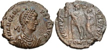 Ancient Coins - Arcadius, 383 - 408 AD, AE18 of Constantinople