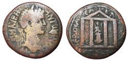 Ancient Coins - Caracalla, 198 - 217 AD, Tetrassarion of Komana, Temple
