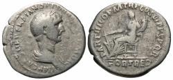 Ancient Coins - Trajan, 98 - 117 AD, Silver Denarius, Fortuna