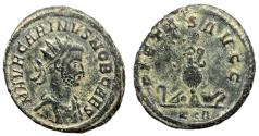 Ancient Coins - Carinus, as Caesar, 282 - 283 AD, Antoninianus, Sacrificial Implements