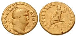 Ancient Coins - Nero, 54 - 68 AD, Gold Aureus, Jupiter