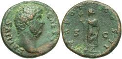 Ancient Coins - Aelius, Caesar, 136 - 138 AD, AE As, Spes