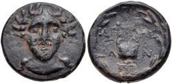 Ancient Coins - Troas, Alexandreia, 164 - 135 BC, AE20, Facing Apollo, Lyre, ex Cederlind