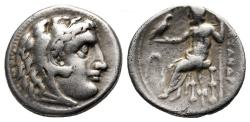 Ancient Coins - Kings of Macedon, Alexander The Great, 336 - 323 BC, Silver Drachm of Miletos