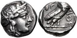 Ancient Coins - Attica, Athens, 353 - 294 BC, Silver Tetradrachm