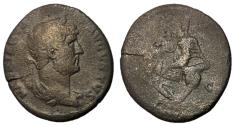 Ancient Coins - Hadrian, 117 - 138 AD, AE As, Circulation in the East, Rare