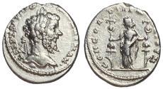 Ancient Coins - Septimius Severus, 193 - 211 AD, Silver Denarius of Laodicea with Concordia