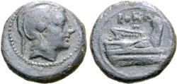 Ancient Coins - Anonymous, 217 - 215 BC, AE Quartuncia