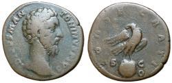 Ancient Coins - Divus Marcus Aurelius, 180 AD, Sestertius