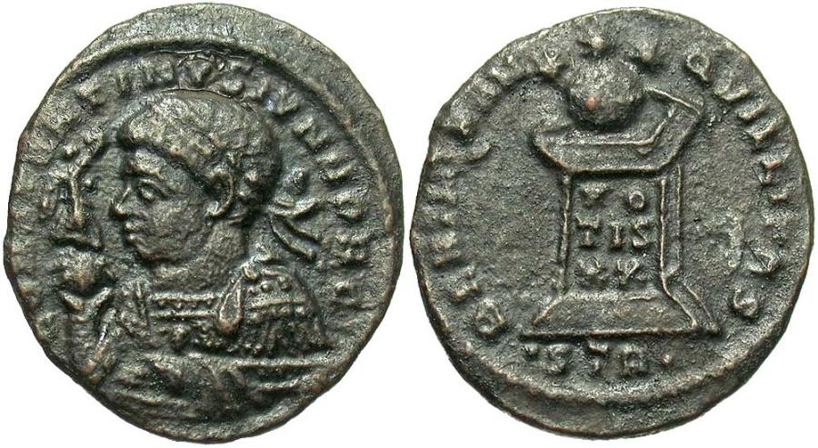 Ancient Coins - Constantine II, as Caesar, 317 - 337 AD, AE19, Trier