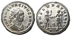 Ancient Coins - Tacitus, 275 - 276 AD, Antoninianus of Serdica, Mars, Fully Silvered AU