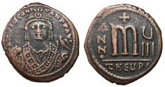 Ancient Coins - Tiberius II Constantine, 578 - 582 AD, Follis of Theoupolis