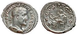 Ancient Coins - Maximinus I, 235 - 238 AD, Silver Denarius, Salus, EF