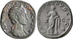 Ancient Coins - Julia Mamaea, 228 AD, Sestertius with Felicitas