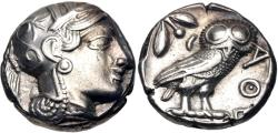 Ancient Coins - Egypt, Pharaonic Kingdom, Unknown Pharoah, 5th - 4th Century BC, Silver Tetradrachm