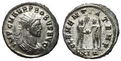 Ancient Coins - Probus, 276 - 282 AD, Antoninianus of Cyzicus, Jupiter & Probus, Silvered EF
