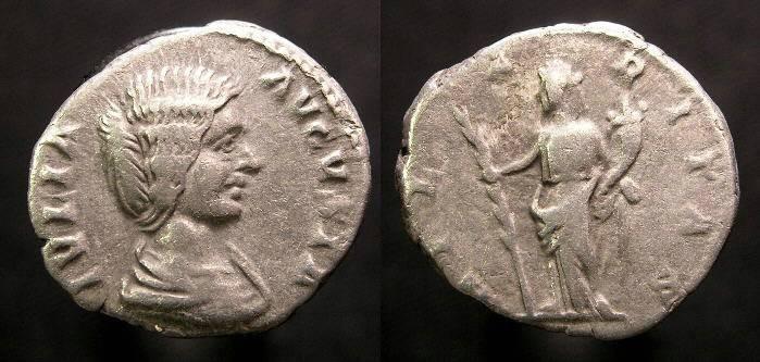 Ancient Coins - Julia Domna, 193 - 211 AD, Denarius, Hilaritas