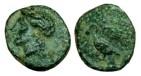 Ancient Coins - Ionia, Leukai, ca 350-300 BC. AE 12mm, Apollo / Swan - RARE and NICE