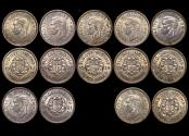 World Coins - Great Britain, George VI (1936-1952), Silver Threepences 1937(4), 1938(1), 1939(1), 1941(1) UNC, a lot of (7) coins