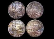 World Coins - Great Britain, George V (1910-1936), Silver Jubilee Medal, 1935, Official Royal Mint Issue (2), a lot of (2) medals