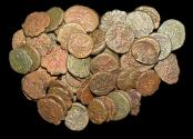 World Coins - Danish India, Tranquebar, a mixed lot of early issues,mostly Christian VII, a lot of (57) coins