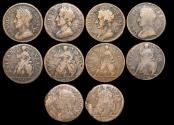 World Coins - England, Charles II (1660-1685), Copper Farthings, 1672 (3), 1673 (2), a lot of (5) coins