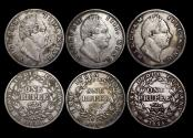 World Coins - British India, William IV (1834-1837), Silver Rupees, Bombay and Calcutta mint, a lot of (3) coins