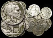 World Coins - USA, Buffalo Type, 5 Cent Pieces, a Mixed Lot, mostly VF, (16) coins
