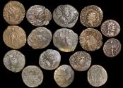 Ancient Coins - Roman Empire, Crisis of the Third Century, Gallic Empire, Barbarous Radiate Imitations, in imitation of, Tetricus I and II, struck c.250-c.280 CE, a lot of (8) coins