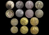 World Coins - Great Britain, C17th-C19th Medalets and Counters, Copper and Bronze, VF-EF, a lot of (7)