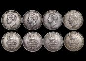 World Coins - Great Britain, George IV (1820-1834), Silver Shillings, 2nd type, 1825 (1), 1826 (3), EF-AU, a lot of (4) coins