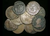 World Coins - France, Royal and Feudal Issues, C17th, Double Tournois, F-VF, a few damaged, a lot of (12) coins