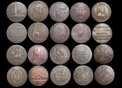 World Coins - Great Britain, Conder Tokens (10), VF or better, a lot of (10) coins
