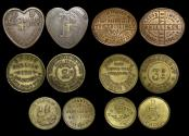 World Coins - Great Britain, a mixed lot of market check and store tokens, EF, a lot of (6)