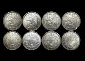 World Coins - Chile, Silver 5 pesos 1927, KM 173 (4),VF, a lot of (4) coins