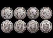 World Coins - Great Britain, William IV (1830-1837), Silver Halfcrowns, 1834 (1), 1836 (3), Fair, one with graffiti,