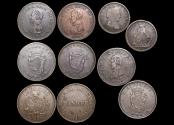 World Coins - Ireland, Nineteenth Century Tokens, a lot of (5) coins