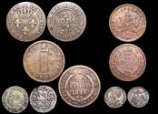 World Coins - Colony of Cayenne and Haiti, Republic, a mixed lot of (5) coins
